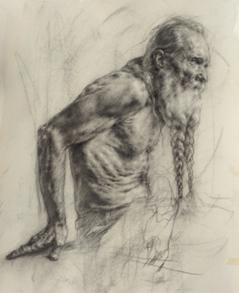 Male Figure Expressive Drawing